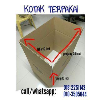 Kotak terpakai, used box, untuk pindah rumah office mover