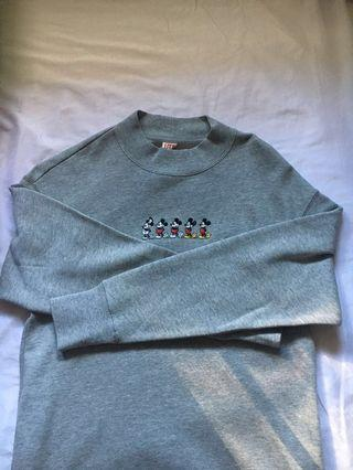 BNWT uniqlo mickey mouse sweater dress
