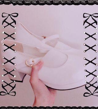 🎀㌔㍉コン蘿莉塔必備白色小鞋🎀