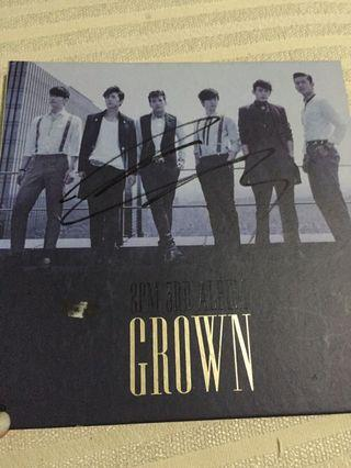 Album 2PM Grown Ver Signed Taecyeon from Mnet
