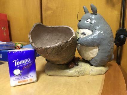 絕版正版龍貓Totoro陶瓷擺設(可放鎖匙)