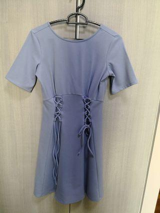 Asos laced lilac baby blue dress