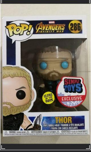 🚚 Thor~ simply toys exclusive! Glow in the dark! #286 ($100)