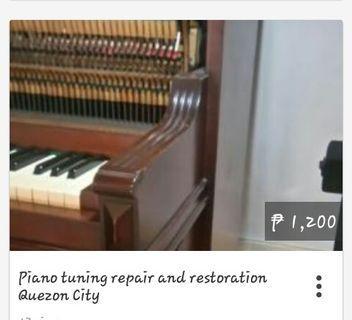 We accept piano repair tuning and restoration Quezon City