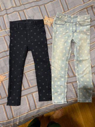 🚚 2 H&M Jean leggings