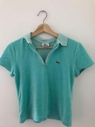 Neon turquoise y2k Lacoste Tshirt