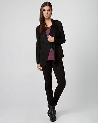 Le Chateau Suede Like Black Jacket