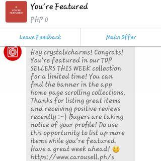 Yey thanks carousell!:)