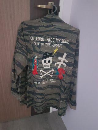 Wacko Mario style Vintage Military Jacket