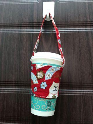 環保杯套 飲品袋🥤三款櫻花柴犬圖案🐶