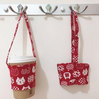 環保杯套 飲品袋🥤五款貓咪圖案🐈