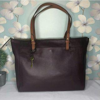 Fossil Rachel tote fig