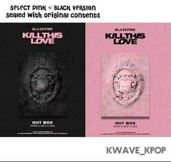 BLACKPINK 블랙핑크 - KILL THIS LOVE (2nd Mini Album) Select 1 Album BLACK/ PINK ver.