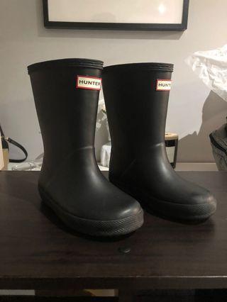 Girls Original hunter boots size 10