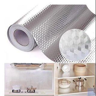 Self adhesive waterproof aluminium foil thickening anti oil modern Nordic kitchen wall paper
