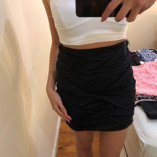 black kookai skirt