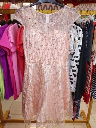 Pinky Glitter Party Dress