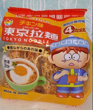 🚚 日本雞汁拉麵 東京口味 雞汁泡麵4入 雞汁方便麵袋裝 雞汁即食麵