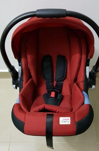 Sweet Cherry Carrier with stroller adapter