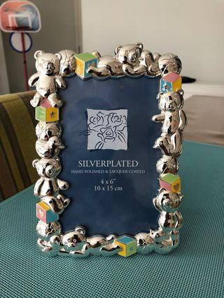 Baby Silver plated + Hand Polished Lacquer Coated Photo Frame 鍍銀嬰兒相𣕧
