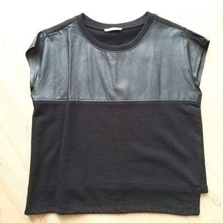 Zara Leather Top