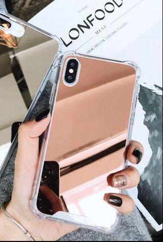 現貨免郵✅玫瑰金 鏡面 iPhone 7/8 case 補妝必備💄