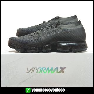 1554b1ed9165 🔥INSTOCK🔥 NIKE AIR VAPORMAX FLYKNIT MIDNIGHT FOG   TRIPLE BLACK