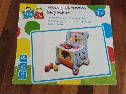 NEW Jack n Jill Wooden Multi Function Baby Walker