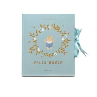 Hello World Baby Boy Keepsake / Baby Journal