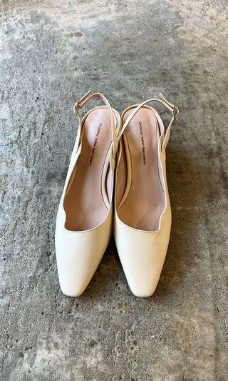 正韓 超美涼鞋式跟鞋 24號