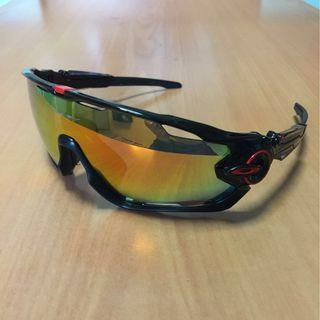 Oakley Jawbreaker Sports Polarized Sunglasses (Rx insert)
