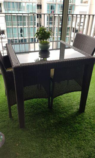 🚚 Resortz Living Balcony Patio Dining Table Set
