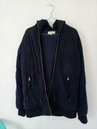 Jaket tebal (warna navy)