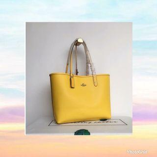 tote bag coach yellow