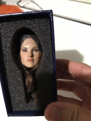 "1/6 female brown Long hair girl head sculpt fit 12"" phicen or jiaou body figure bodytou"