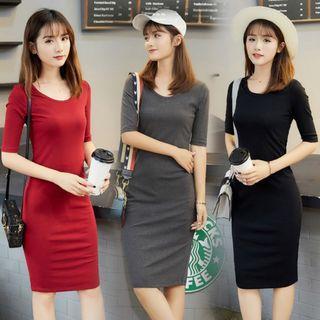 💥HOT💥CRAZY SALES🔥R.Stock Premium Quality Quarter Sleeve Midi Dress *Good Condition*