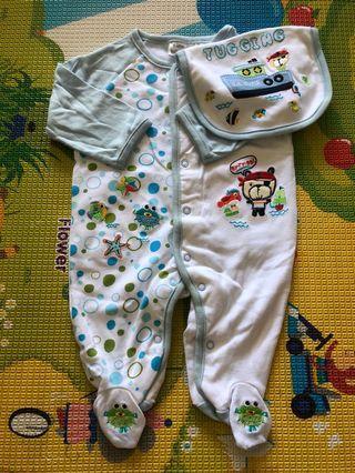 Brand New Little BabyM Sailor Sleepsuit 0-3months