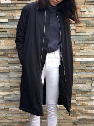 ZARA long black jacket