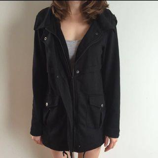 Black parka Anorak Jacket