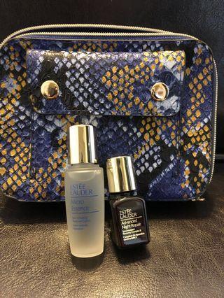 Estēe Lauder 旅行裝+化妝袋