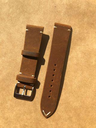 22mm Paros Leather Strap