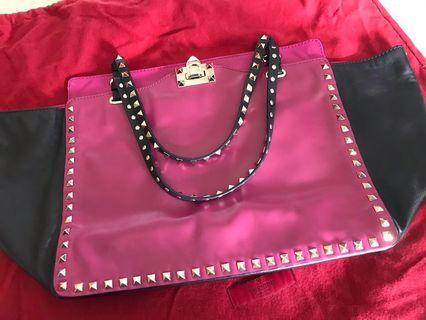 VALENTINO  Rockstud medium leather tote bag