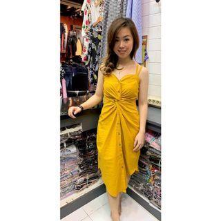 [promo] Dress / Dress Wanita / Plain Twisted Dress / Dress casual / Fit S - M