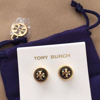 Tory Burch Melodie Stud Navy Earrings