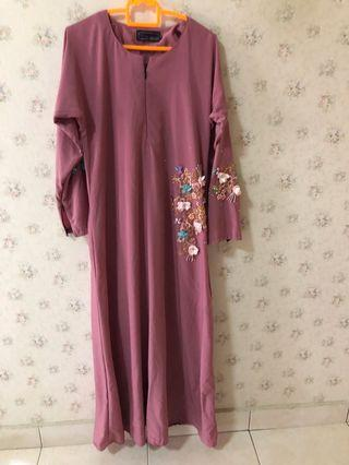 Dress Dusty Pink Jubah