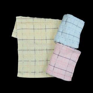 3條 菱形 格仔 童巾 毛巾 運動巾 洗面巾 全棉 洗臉巾 沖涼巾 towels