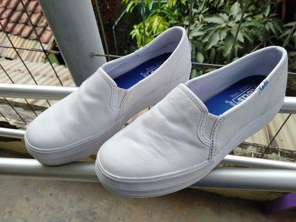 Keds triple Decker leather white number 5