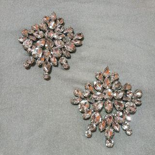 IRON ON GLASS BEADS PATCHES
