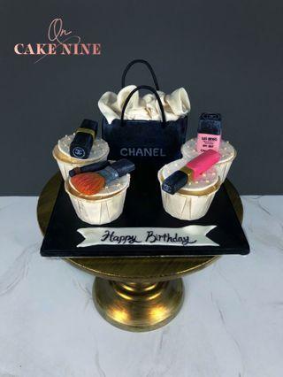 Chanel Makeup Cupcake Set