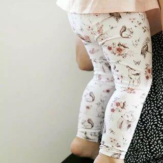 ✔️STOCK - SWEET VINTAGE FLORAL PINK ANIMALS LONG LEGGING PANTS CASUAL NEWBORN TODDLER BABY GIRLS KIDS CHILDREN CLOTHING